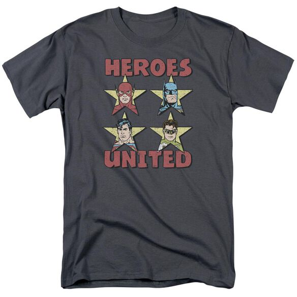 Jla United Stars Short Sleeve Adult T-Shirt