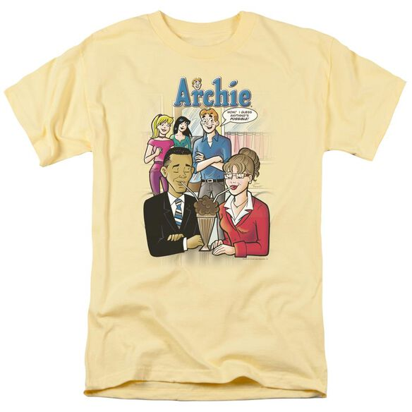 Archie Comics Anything's Possible Short Sleeve Adult Banana T-Shirt