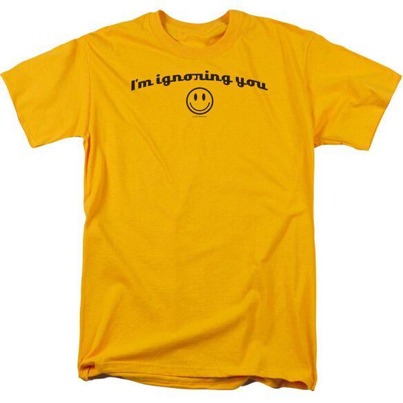 Ignoring You Short Sleeve Adult Gold T-Shirt