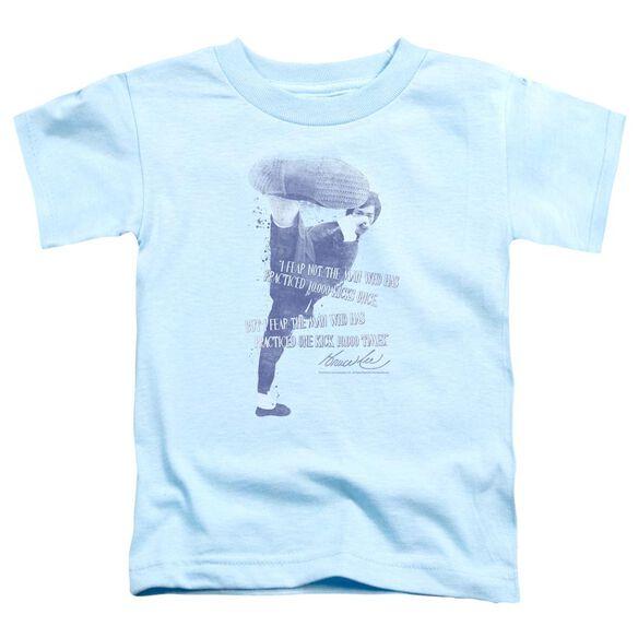 Bruce Lee 10,000 Kicks Short Sleeve Toddler Tee Light Blue Md T-Shirt