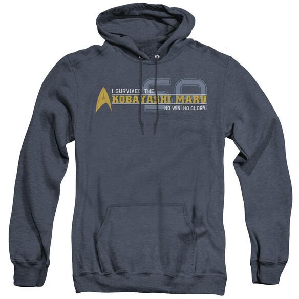 Star Trek I Survived - Adult Heather Hoodie - Navy