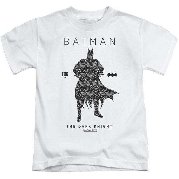 Batman Paislety Silhouette Short Sleeve Juvenile T-Shirt