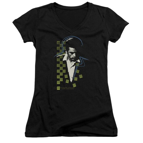 Dean Checkered Darkness Junior V Neck T-Shirt