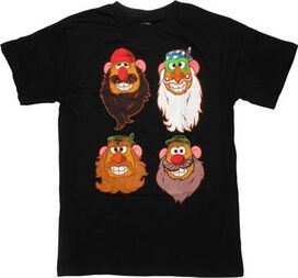 Mr Potato Duck Dynasty Heads T-Shirt