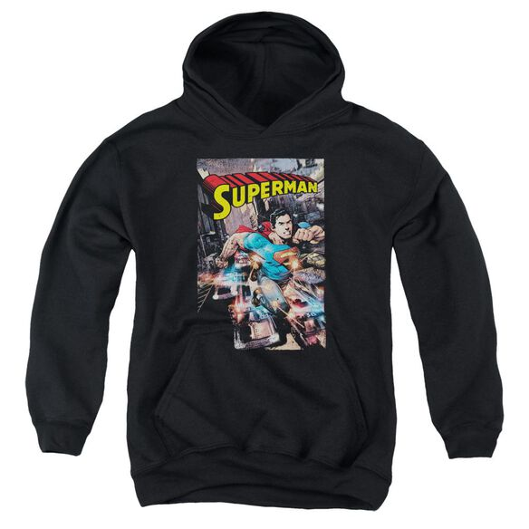 Superman Action One Youth Pull Over Hoodie
