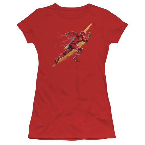 Justice League Movie Flash Forward Short Sleeve Junior Sheer T-Shirt