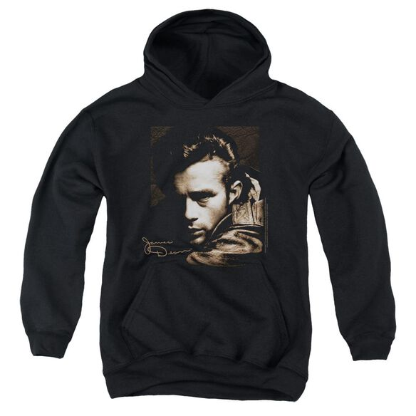 Dean Brown Leather Youth Pull Over Hoodie