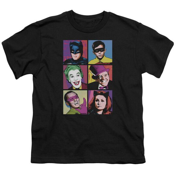 Batman Classic Tv Pop Cast Short Sleeve Youth T-Shirt