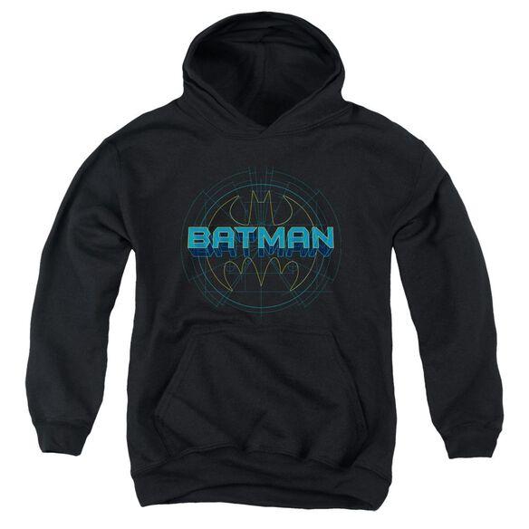 Batman Bat Tech Logo Youth Pull Over Hoodie