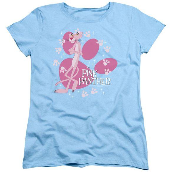 Pink Panther Walk All Over Short Sleeve Women's Tee Light T-Shirt