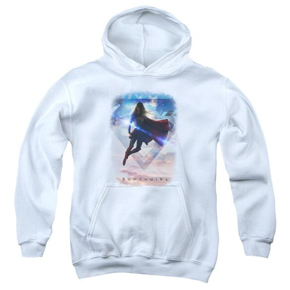 Supergirl Endless Sky Youth Pull Over Hoodie