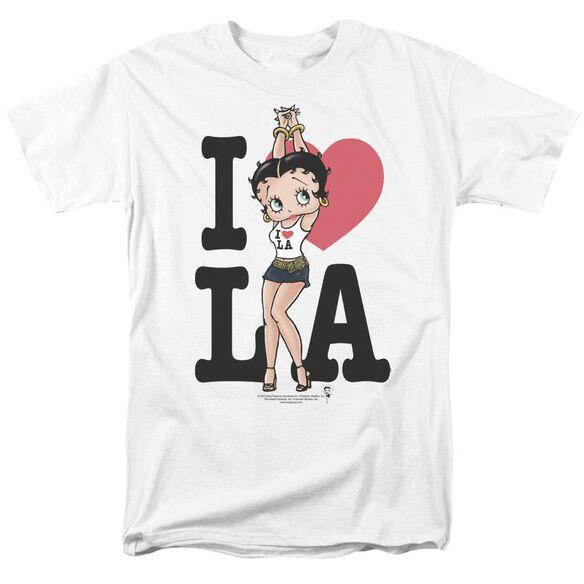 Betty Boop I Heart La Short Sleeve Adult T-Shirt