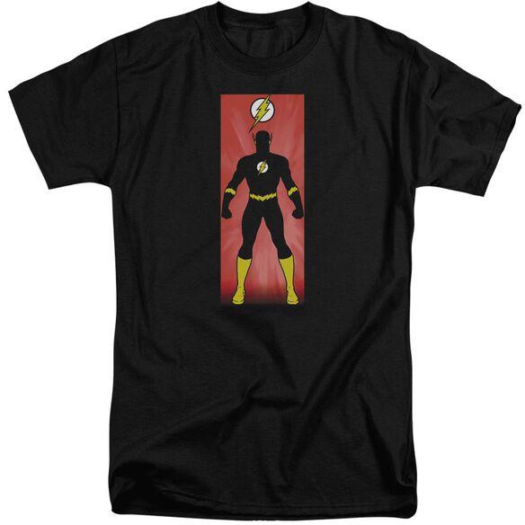Jla Flash Block Short Sleeve Adult Tall T-Shirt