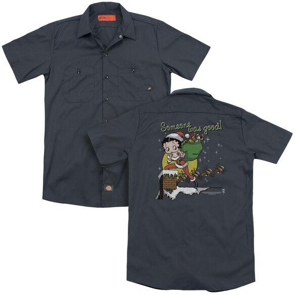 Betty Boop Chimney(Back Print) Adult Work Shirt