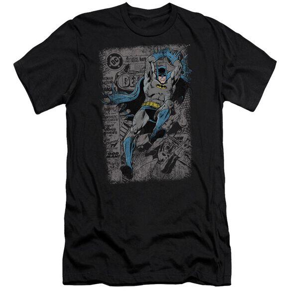 BATMAN DETECTIVE #487 DISTRESS - S/S ADULT 30/1 - BLACK T-Shirt