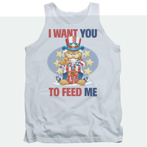 Garfield I Want You - Adult Tank - White