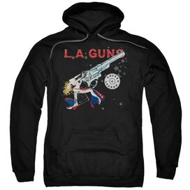 La Guns Cocked And Loaded Adult Pull Over Hoodie Black