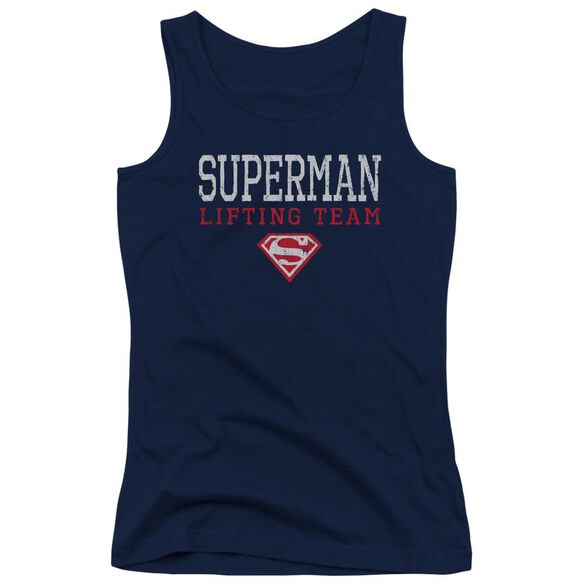 Superman Lifting Team Juniors Tank Top