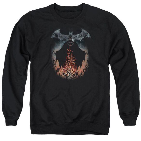 Batman Smoke & Fire Adult Crewneck Sweatshirt