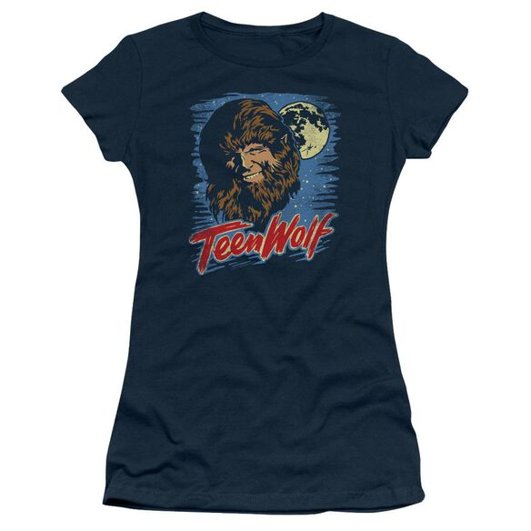 Teen Wolf Moon Wolf Short Sleeve Junior Sheer T-Shirt