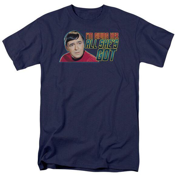 STAR TREK ALL SHES GOT - S/S ADULT 18/1 - NAVY T-Shirt