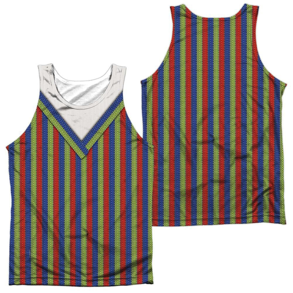 Sesame Street Bert Costume (Front Back Print) Adult Poly Tank Top
