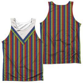 Sesame Street Bert Costume (Front Back Print) Adult Poly Tank Top