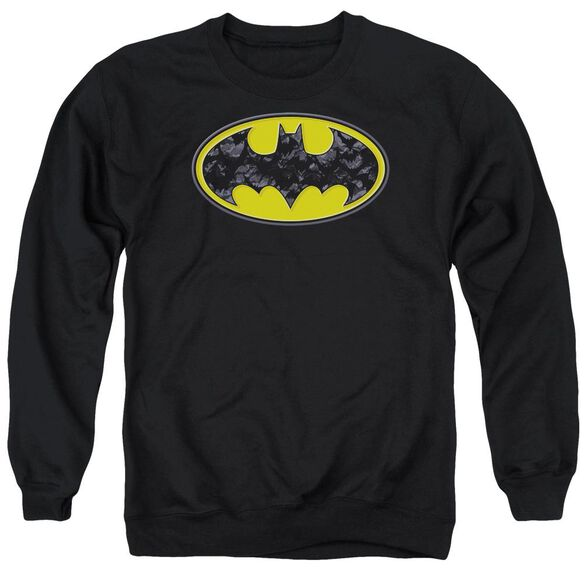 Batman Bats In Logo Adult Crewneck Sweatshirt