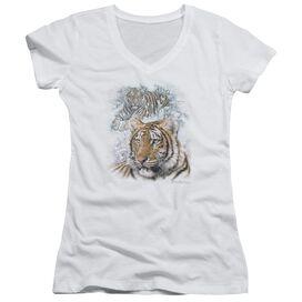 Wildlife Tigers Junior V Neck T-Shirt
