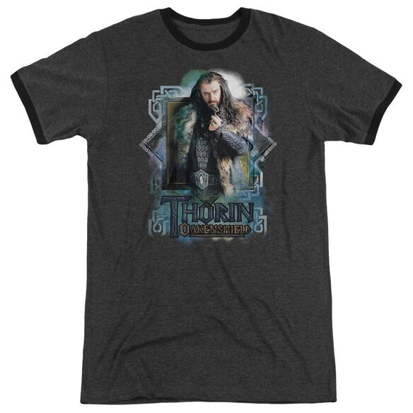 The Hobbit Thorin Oakenshield Adult Heather Ringer Charcoal