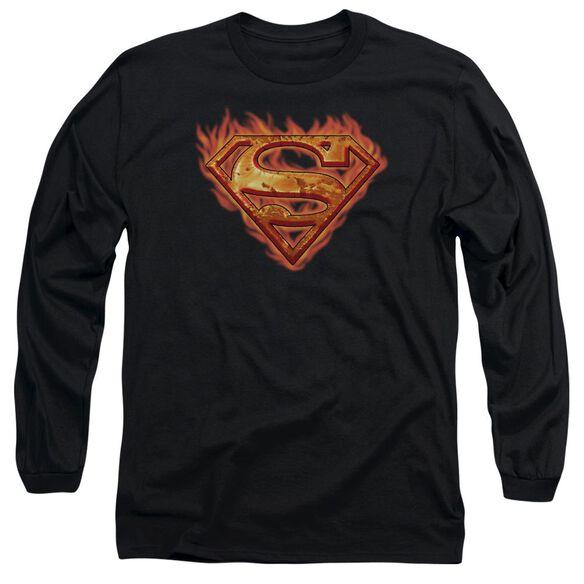 SUPERMAN HOT METAL-L/S T-Shirt
