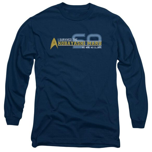 STAR TREK I SURVIVED - L/S ADULT 18/1 - NAVY T-Shirt