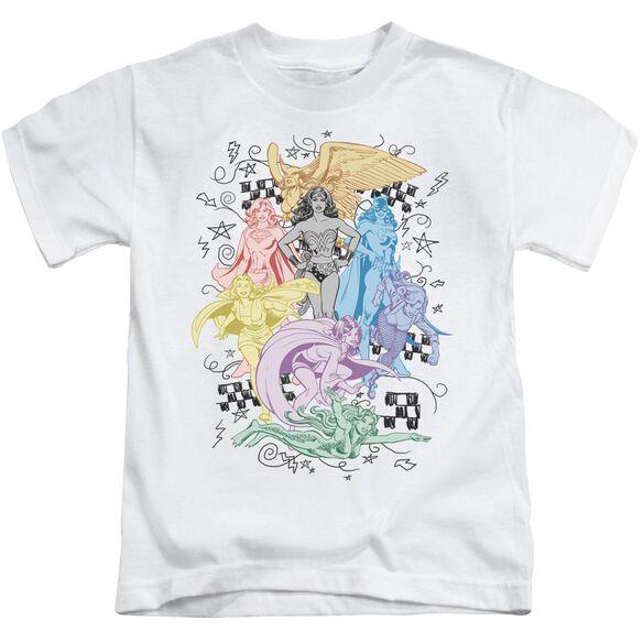 Dc Super Short Sleeve Juvenile White Md T-Shirt