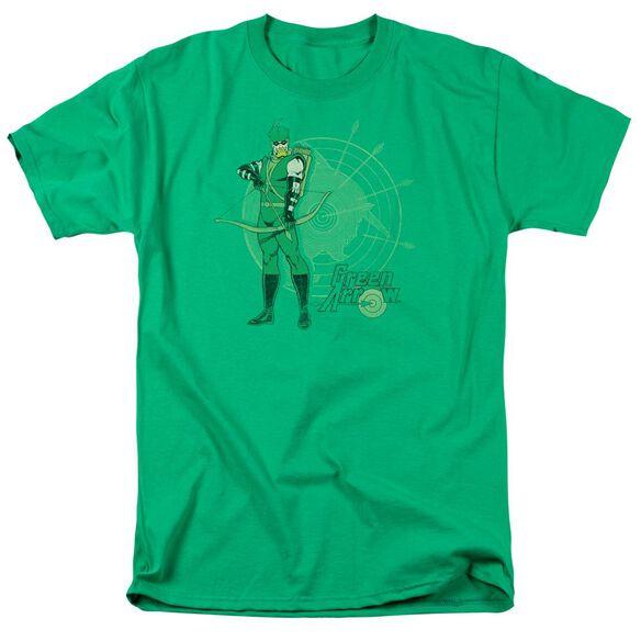 Dc Arrow Target Short Sleeve Adult Kelly T-Shirt