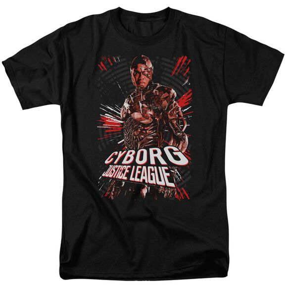 Justice League Movie Cyborg Short Sleeve Adult T-Shirt