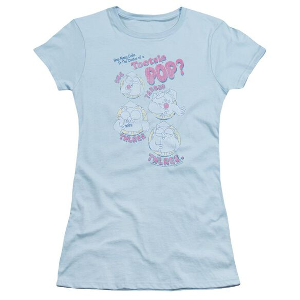 Tootsie Roll Three Short Sleeve Junior Sheer Light T-Shirt