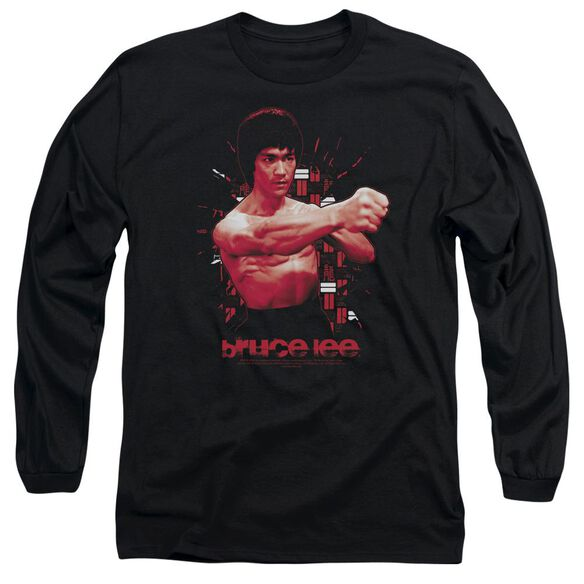 Bruce Lee The Shattering Fist Long Sleeve Adult T-Shirt