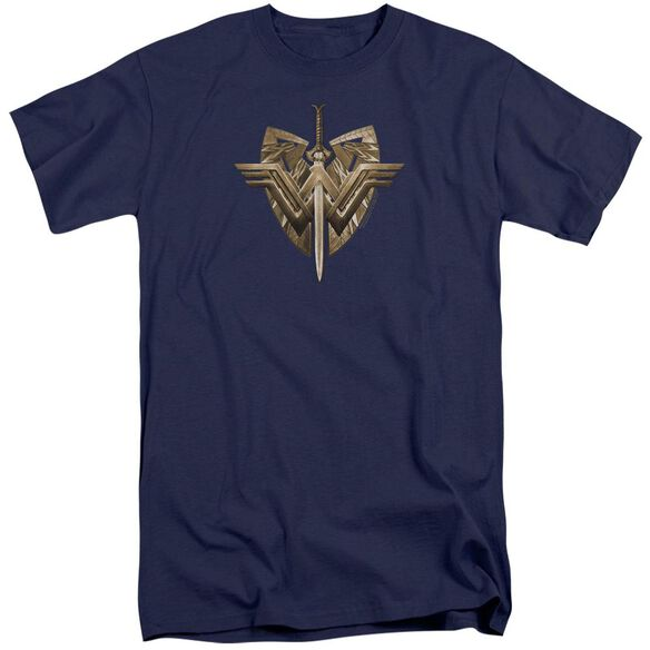 Wonder Woman Movie Sword Emblem Short Sleeve Adult Tall T-Shirt
