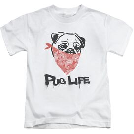Pug Life Short Sleeve Juvenile White Md T-Shirt