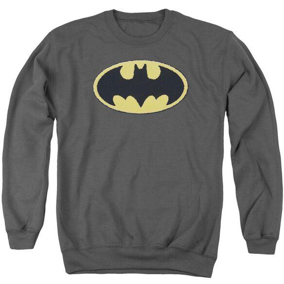 Batman Batman Chenille Emblem Adult Crewneck Sweatshirt