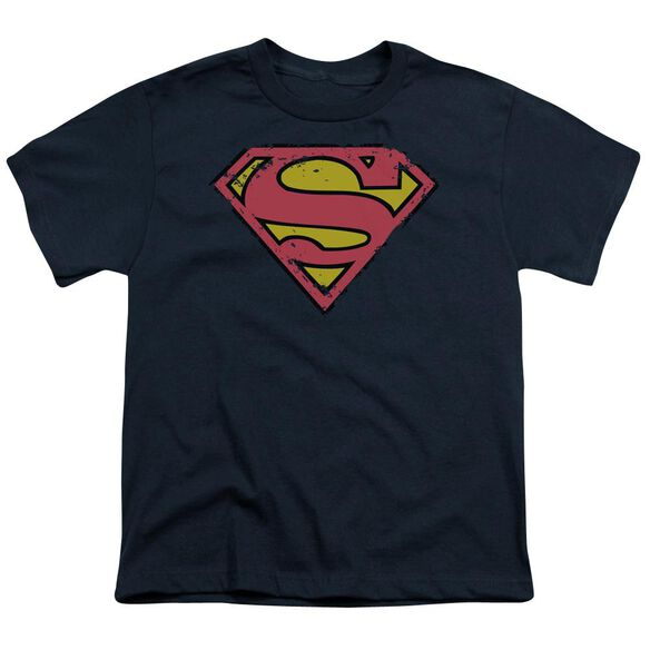Superman Distressed Shield Short Sleeve Youth T-Shirt
