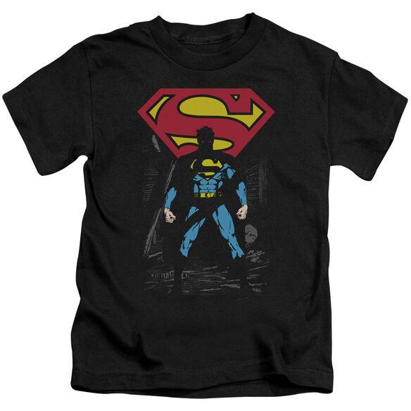 SUPERMAN DARK ALLEY - S/S JUVENILE 18/1 - BLACK - T-Shirt