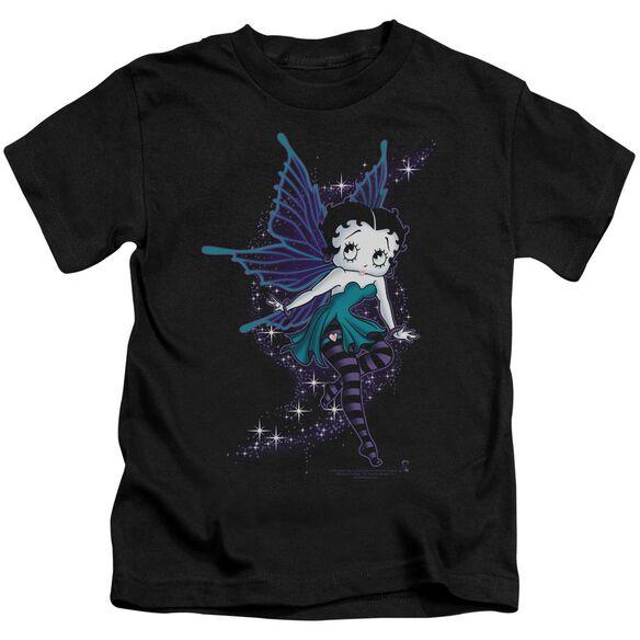 Betty Boop Sparkle Fairy Short Sleeve Juvenile Black T-Shirt