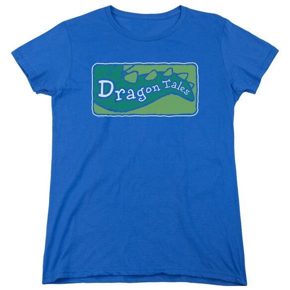 Dragon Tales Logo Clean Short Sleeve Womens Tee Royal T-Shirt