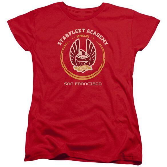 Star Trek Academy Heraldry Short Sleeve Womens Tee T-Shirt