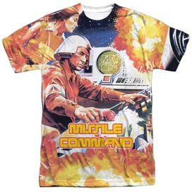 Atari Missle Commander Short Sleeve Adult Poly Crew T-Shirt
