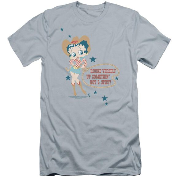 Betty Boop Hot And Spicy Cowgirl Premuim Canvas Adult Slim Fit Light