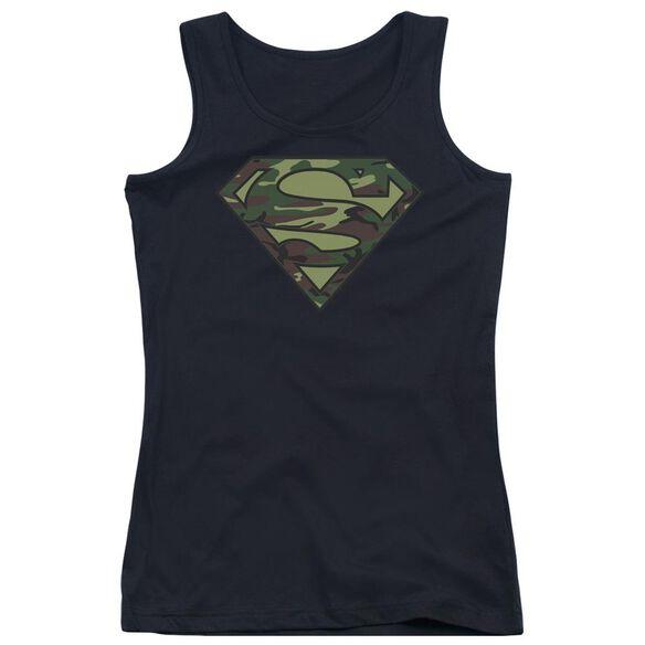Superman Camo Logo Juniors Tank Top
