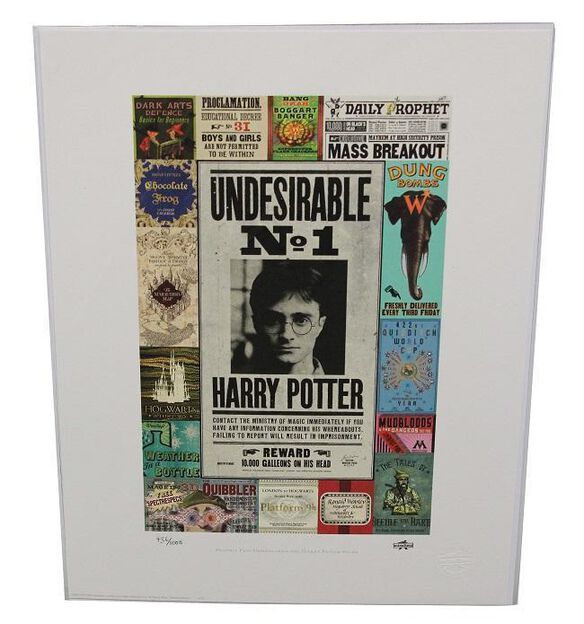 Harry Potter Minalima Art Print Prop Reproduction [Standard]