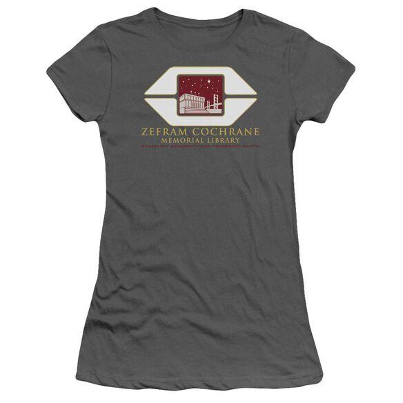 Star Trek Cochrane Library Short Sleeve Junior Sheer T-Shirt